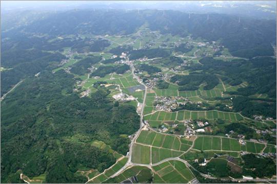 田原地区の全景